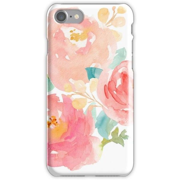 WEIZO Skal till iPhone 8 - Rosa blommönster Design