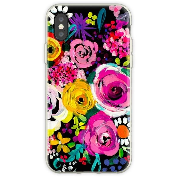 WEIZO Skal till iPhone X/XS - ROSES Painting mönster