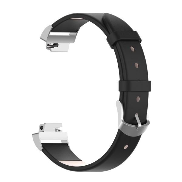 Läderarmband Fitbit Inspire/Inspire HR/Inspire 2 Svart