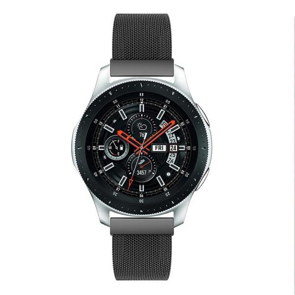 Milanese Loop Armband Samsung Galaxy Watch 46mm Svart