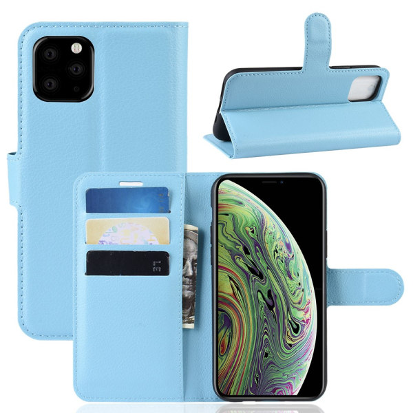 Mobilfodral Läder iPhone 11 Pro Blå