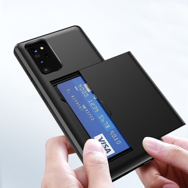 Skal Med Kortfack Galaxy Note 20 Svart