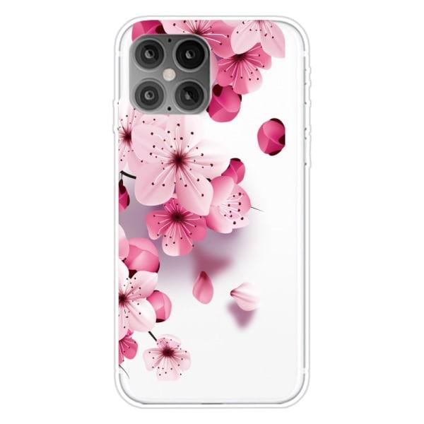 Soft TPU Skal Blommor iPhone 12/12 Pro Rosa