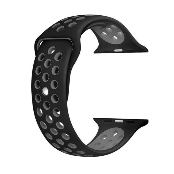 Sportarmband Apple Watch 42/44mm Svart/Grå