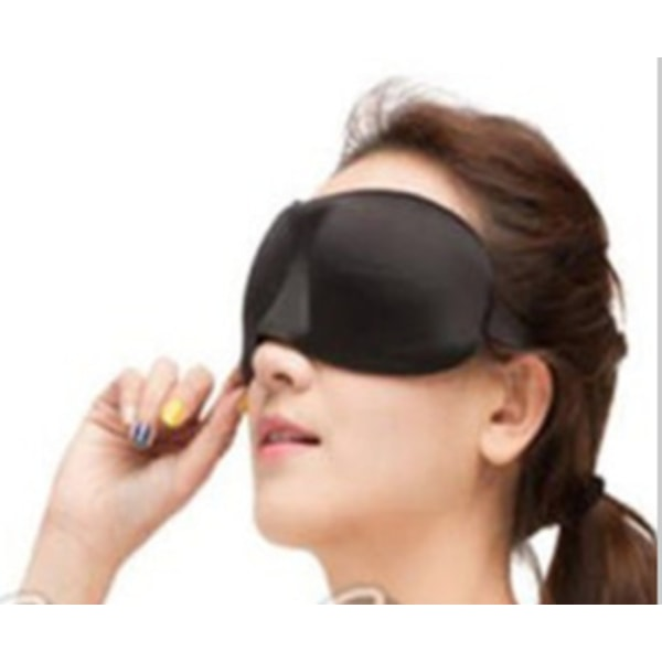 2 pack sovmask / resemask / ögonmask svart