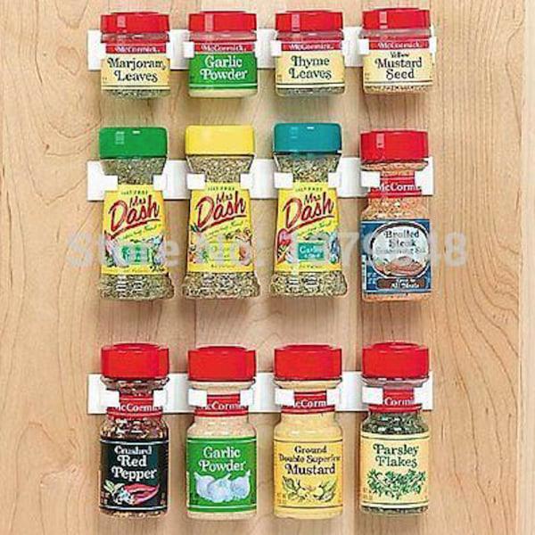 3 pack list till förvaring av kryddburkar vit