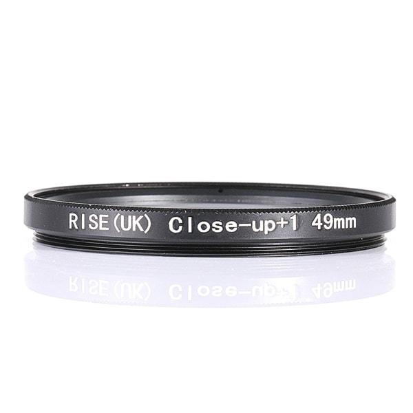 49 mm +1 close up- / makro- / närbildsfilter Svart