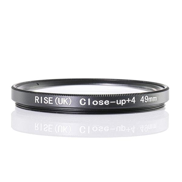 49 mm +4 close up- / makro- / närbildsfilter Svart