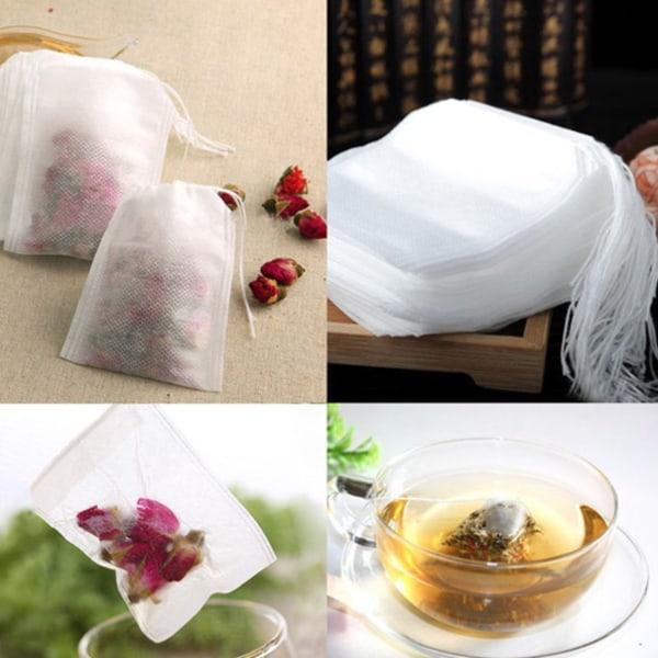 500 st Te- Krydd- & Doftpåsar - fyll med ditt te, krydda, doft vit