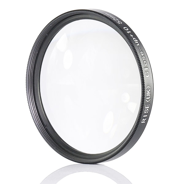52 mm +10 close up- / makro- / närbildsfilter Svart