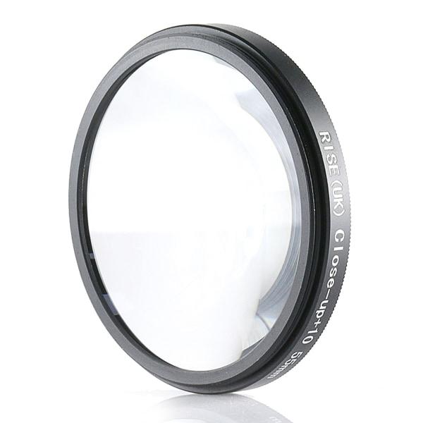 55 mm +10 close up- / makro- / närbildsfilter Svart