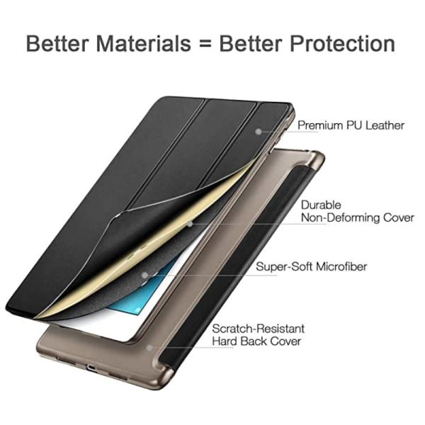 Alla modeller iPad fodral/skal/skydd tri-fold plast guld -  Guld Ipad Air 1/2 & Ipad 9,7 Gen5/Gen6