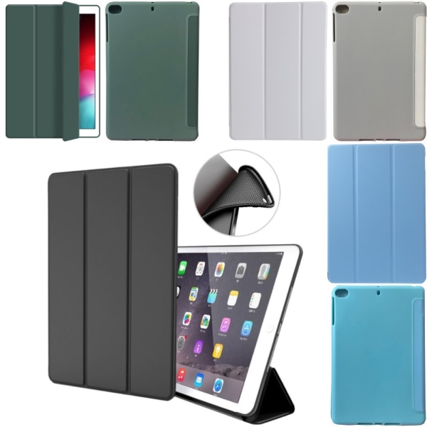 Alla modeller silikon iPad fodral air/pro/mini smart cover case- Svart Ipad Mini 4/5