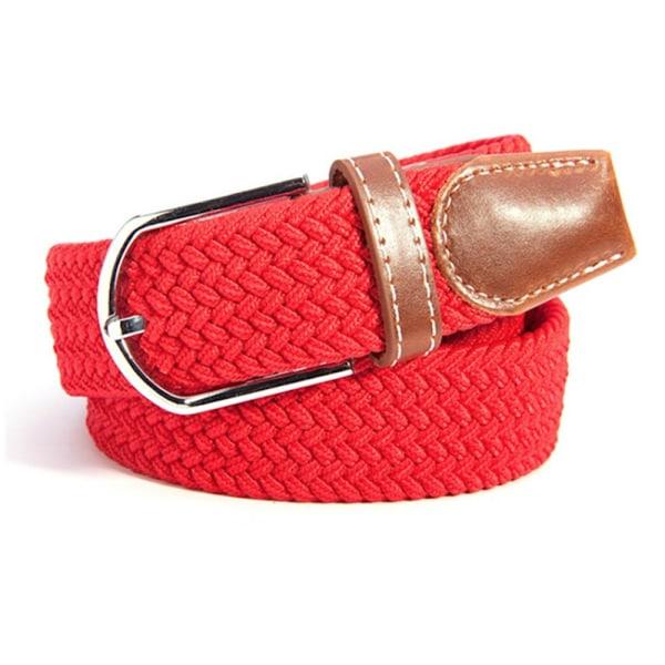 Canvas skärp, rött unisex accessoar smycke flätat bälte sommar Röd