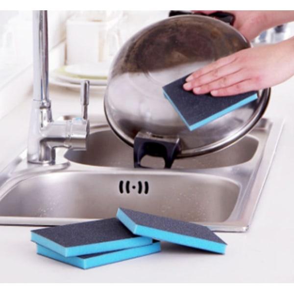 Disksvamp , skrubbare, slipar grytor kastruller köket rengöra  Blå / grå