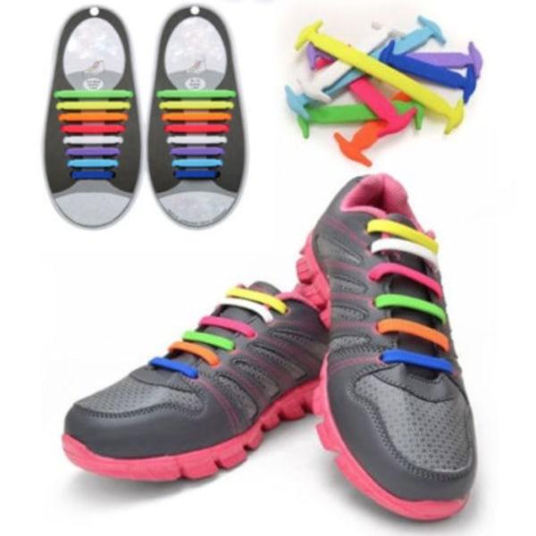 Elatiska silicone skosnöre unisex barn sommar Flera färger