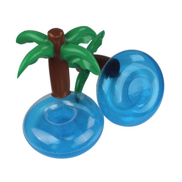 Flytande bord till pool basäng, palm med drinkhållare blå, brun, grön 21*24cm