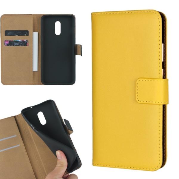 Gul plånbok OnePlus 5T/6/6T/7/7Pro skal fodral kort mobil - Gul OnePlus 5T