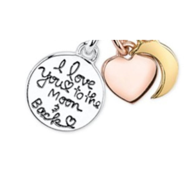 "Halsband med berlock texten "" i love you to them and back"" Silver , guld , koppar"