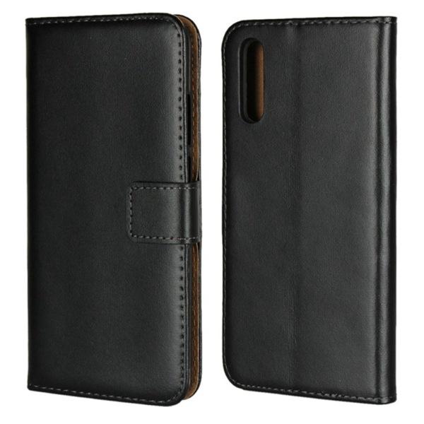 Huawei P20/P20Pro/P20lite plånbok skal fodral kort fack brun - Brun P20 Pro