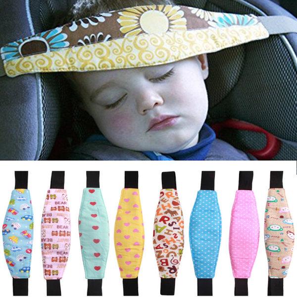 Huvudhållare till bilstol cykelsadel vagn barn sova  flerfärgade