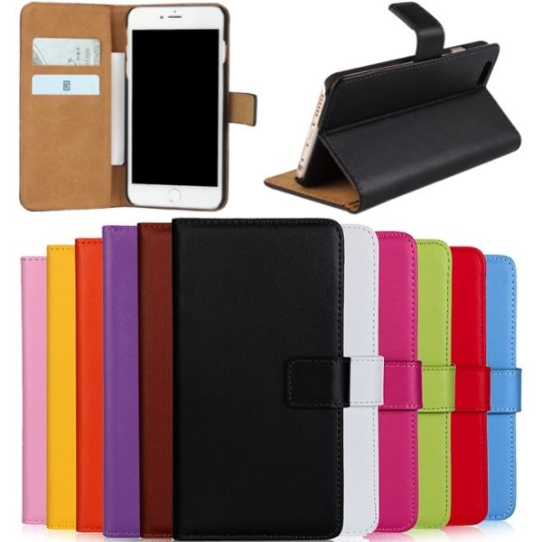 Iphone 6/6s/6+/6s+/7/7+/8/8+ plånbok skal fodral Gul Iphone 6+/6s+