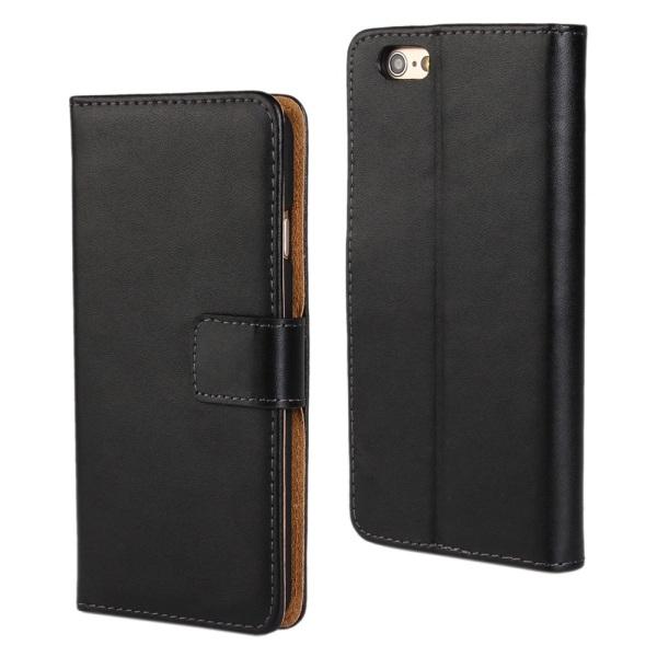 Iphone 6/6s/6+/6s+/7/7+/8/8+ plånbok skal fodral - Svart Iphone 6/6s