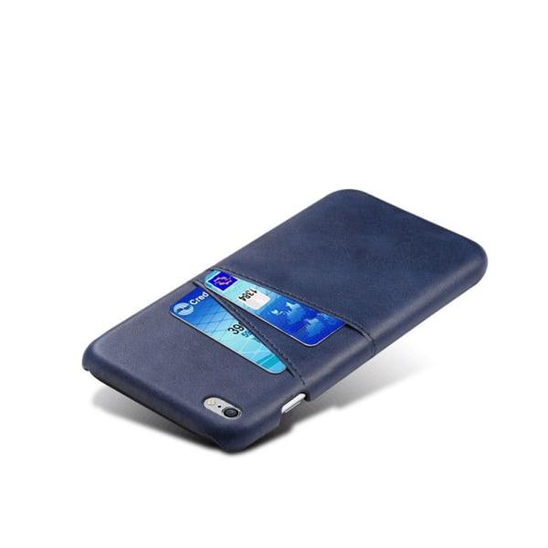 Iphone 6 Plus 6s Plus + skydd skal fodral kort visa mastercard - Blå iPhone 6+/6s+