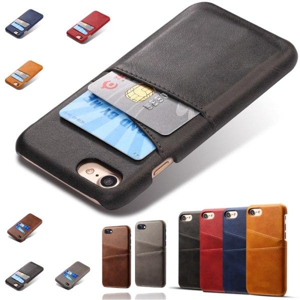 iPhone 7/8 skal kort - Mörkbrun
