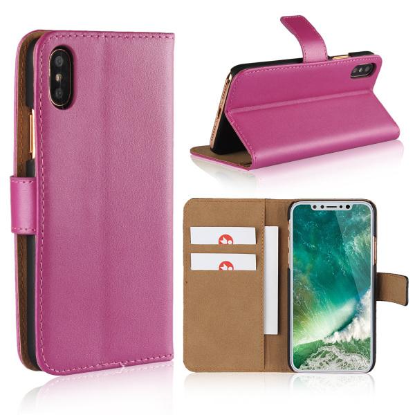 Iphone x/xs/xr/xsmax plånbok skal fodral - Cerise Iphone x/xs