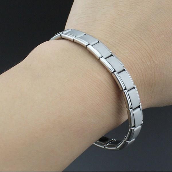 Magnetiskt armband, hälsa, vikt, balans smycke  Silver