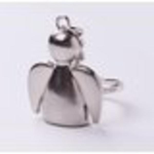 Nyckelring silverfärgad ängel skyddsängel jul present  Silver