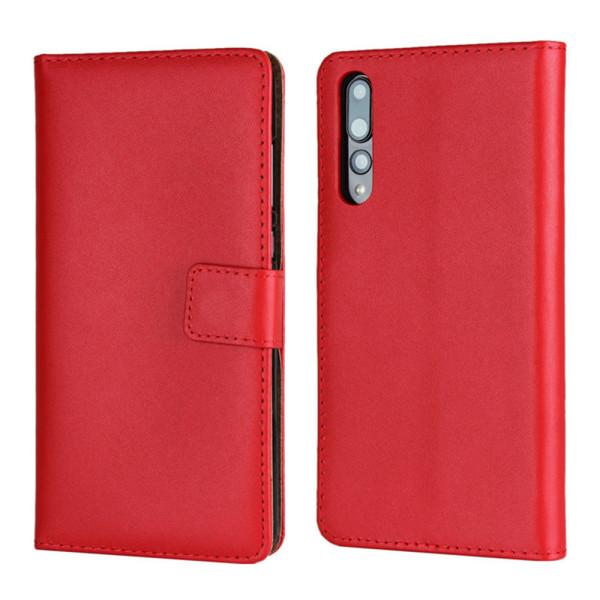 OnePlus 5T/6/6T/7/7Pro plånbok skal fodral kort enfärgade mobil: Svart OnePlus 5T
