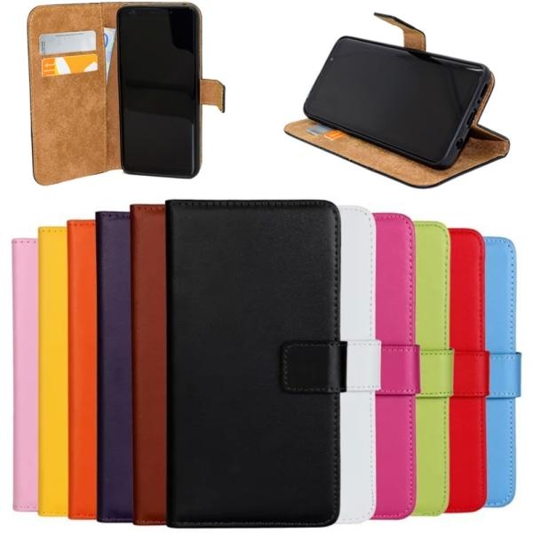 Samsung S9+/S10/S10+/S10e/S10lite plånbok skal fodral Orange Samsung Galaxy s10