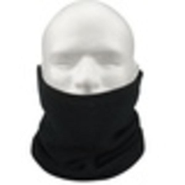 Unisex flecce nack huvud hals värmare, mössa allt i allo dragsko svart