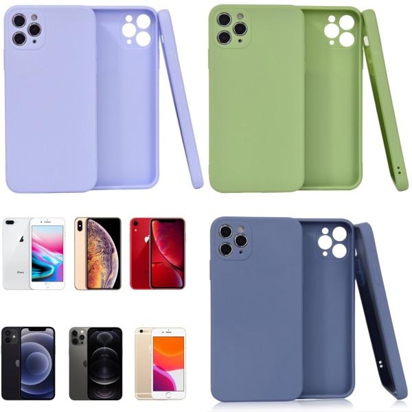 Välj TPU skal Iphone 12/11/XS/X/XR/8/7/6 +/Pro/Max/Mini fodral - Blå Iphone 11 Pro