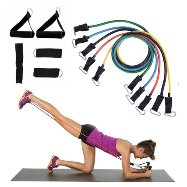 11st / set Fitness TubeBand Training Stretch Pull Rope Expander
