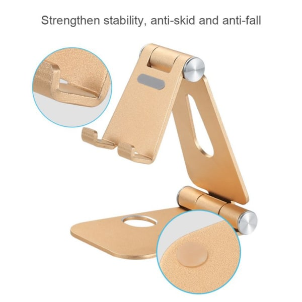 Aluminum Alloy Double Folding Mobile Phone Tablet Stand B