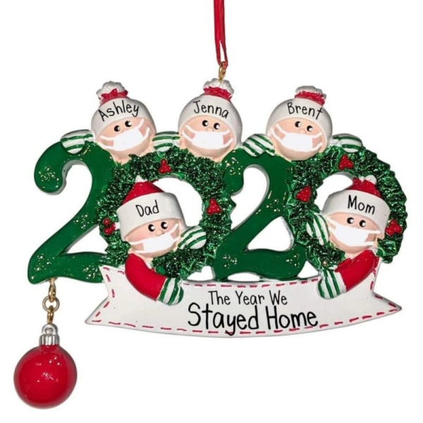 Personalized Family Ornament Personalized Name Christmas 4W PVC