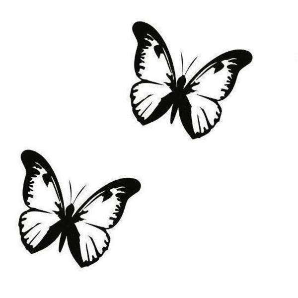 Väggdekor - 2st Fjärilar