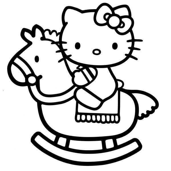 Väggdekor - Hello Kitty (Model 4) svart