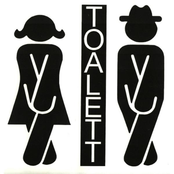 Väggdekor - Toalettsymbol