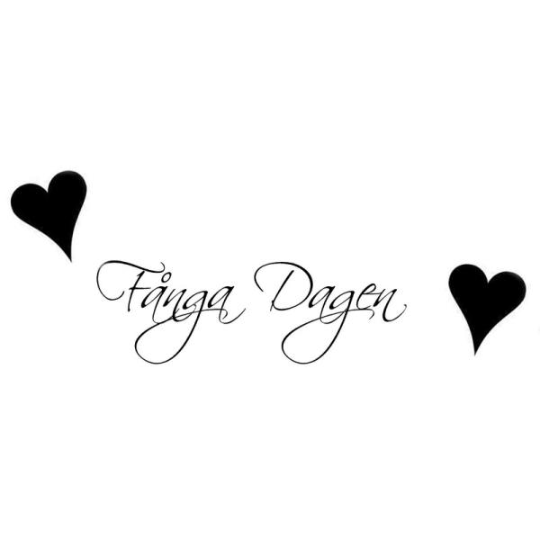Väggord/Väggdekor - Fånga Dagen och 2st hjärtan