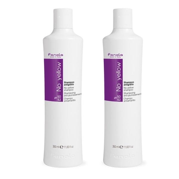 2-pack Fanola No Yellow Shampoo 350ml Transparent