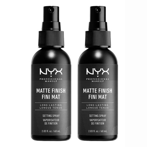 2-pack NYX PROF. MAKEUP Matte Finish Setting Spray Transparent