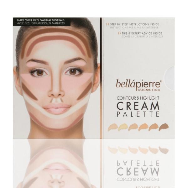 Bellapierre Contour & Highlight Cream palette Transparent