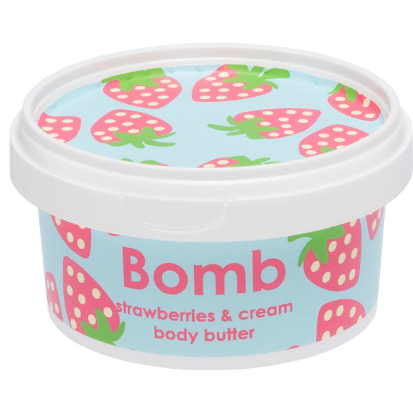 Bomb Cosmetics Body Butter Strawberries & Cream 210ml Transparent