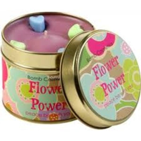 Bomb Cosmetics Tin Candle Flower Power Transparent