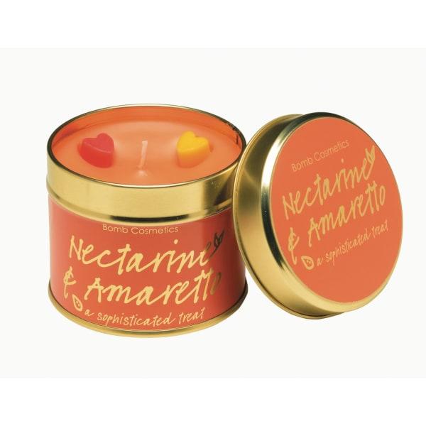 Bomb Cosmetics Tin Candle Nectarince & Amaretto Transparent