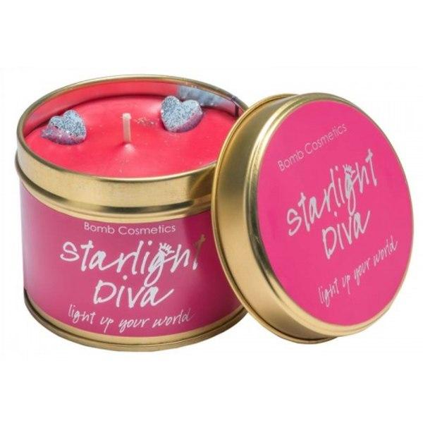 Bomb Cosmetics Tin Candle Starlight Diva Transparent